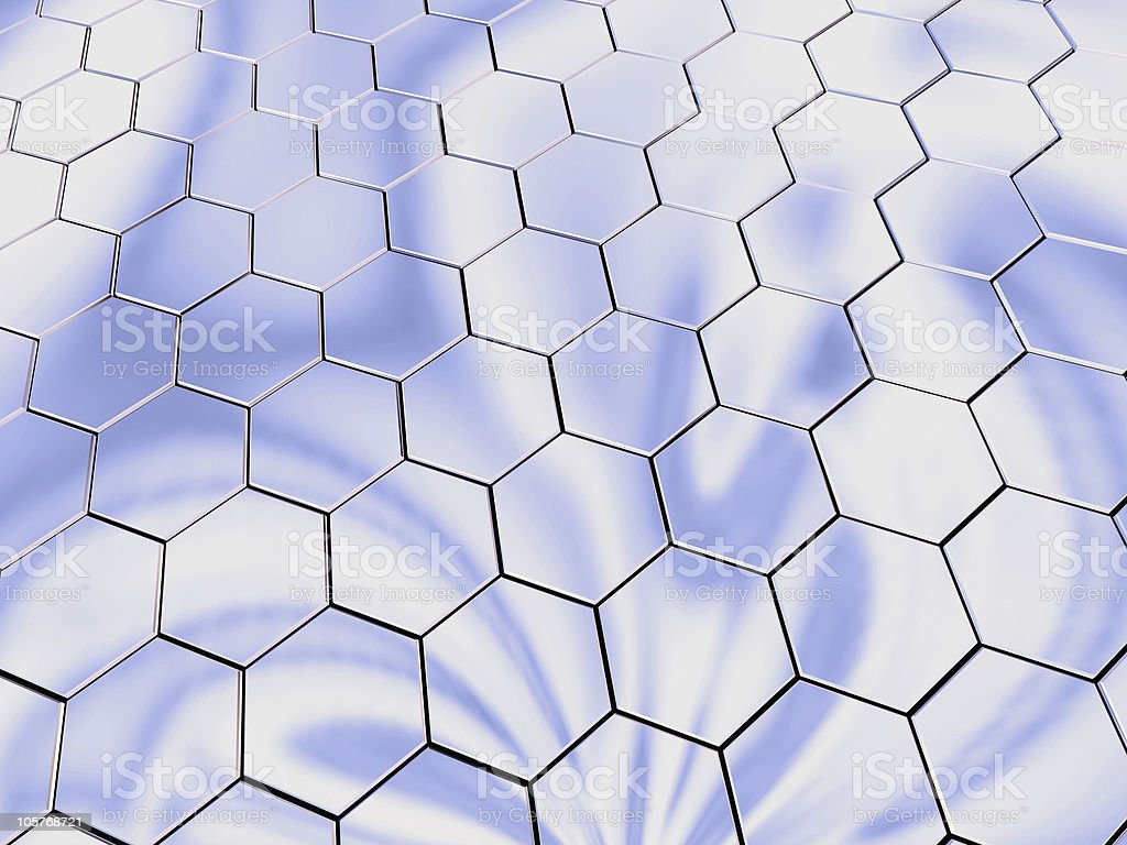 Platinum hexagons royalty-free stock photo