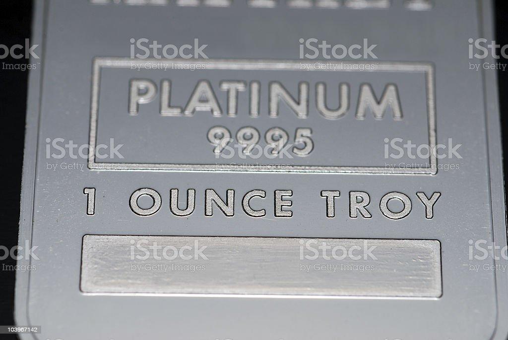 Platinum ingot stock photo