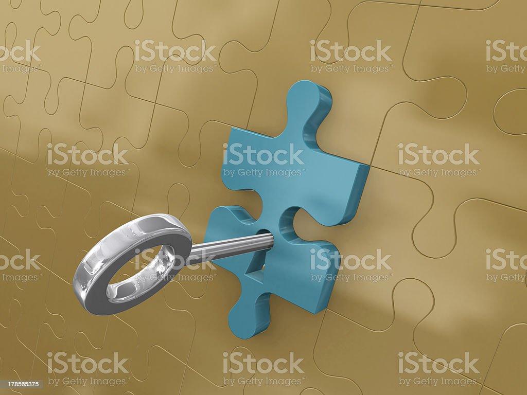 Platinum key royalty-free stock photo