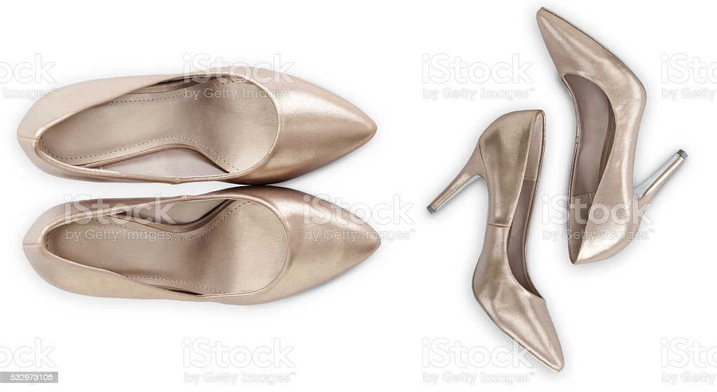 Platinum Pumps With Clipping Path stock photo
