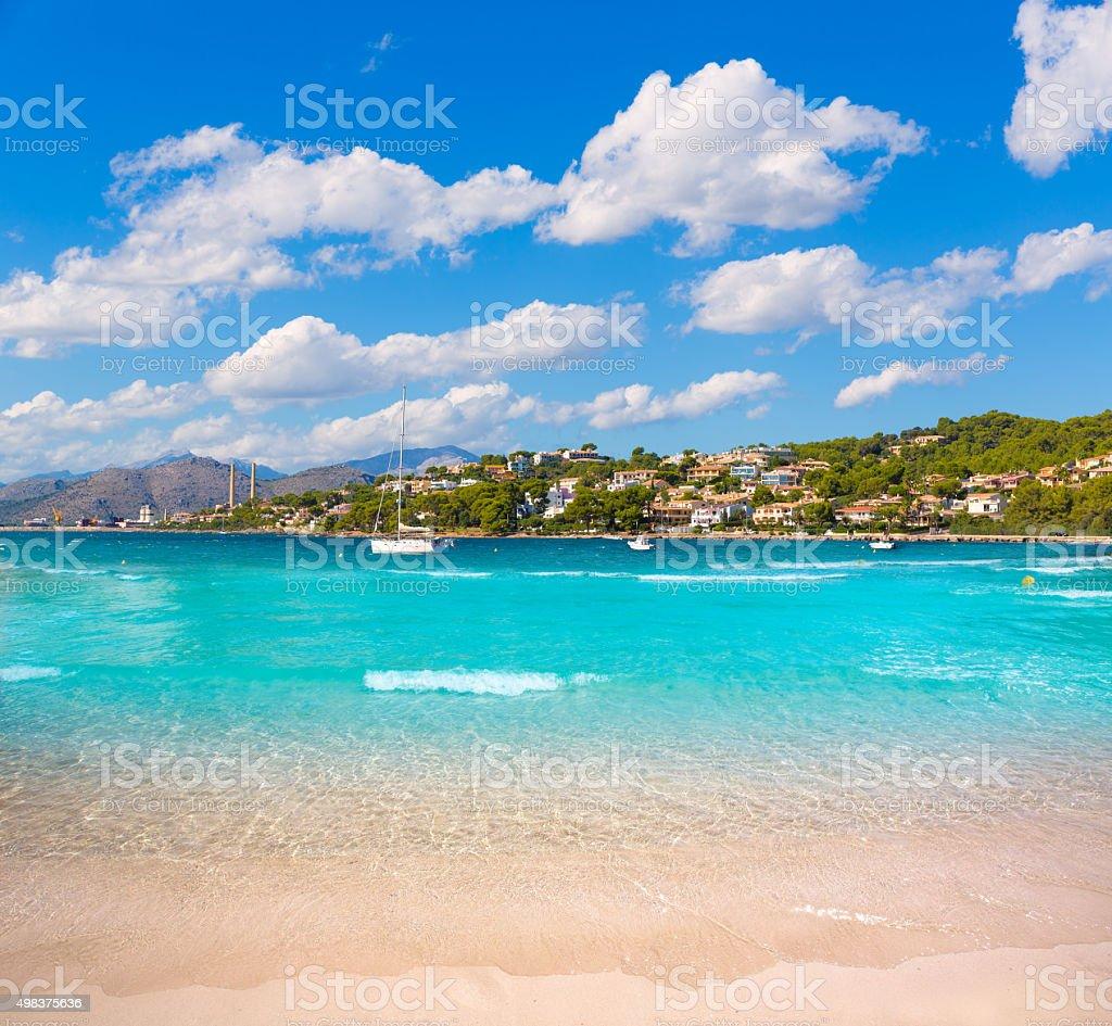 Platja de Alcudia Auanada beach in Mallorca stock photo