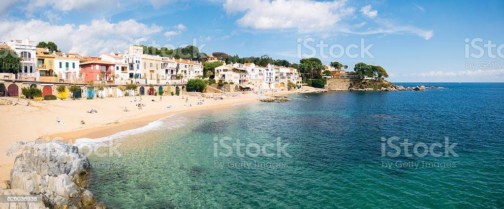 Platja de Canadell on Catalonia's Costa Brava stock photo