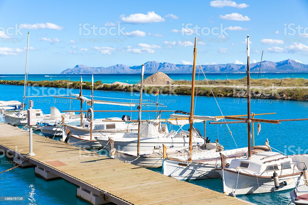 Platja de Muro Esperanza beach Alcudia Bay Majorca stock photo