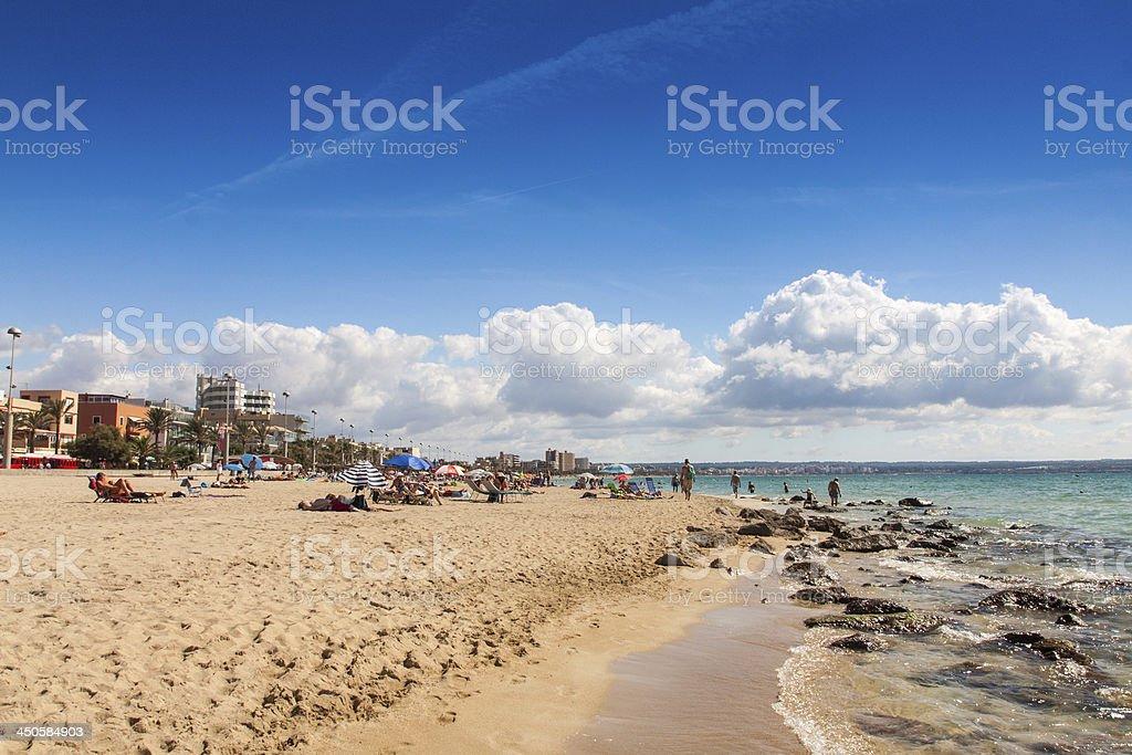 Platja de Palma Beach royalty-free stock photo
