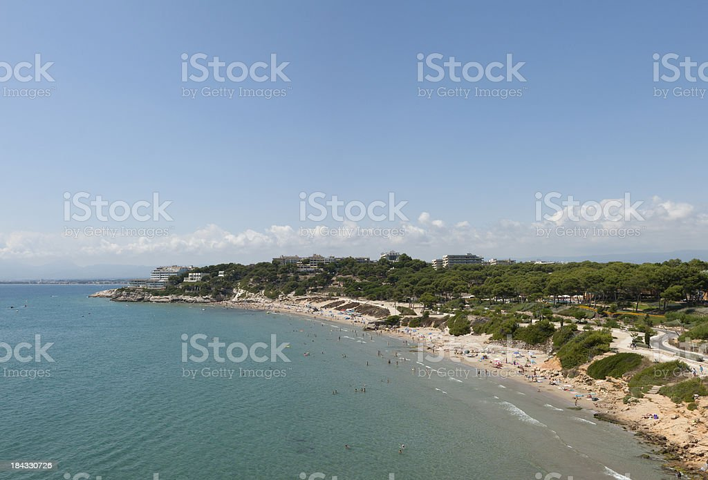 Platja Llarga beach, Costa Daurada, Spain. royalty-free stock photo