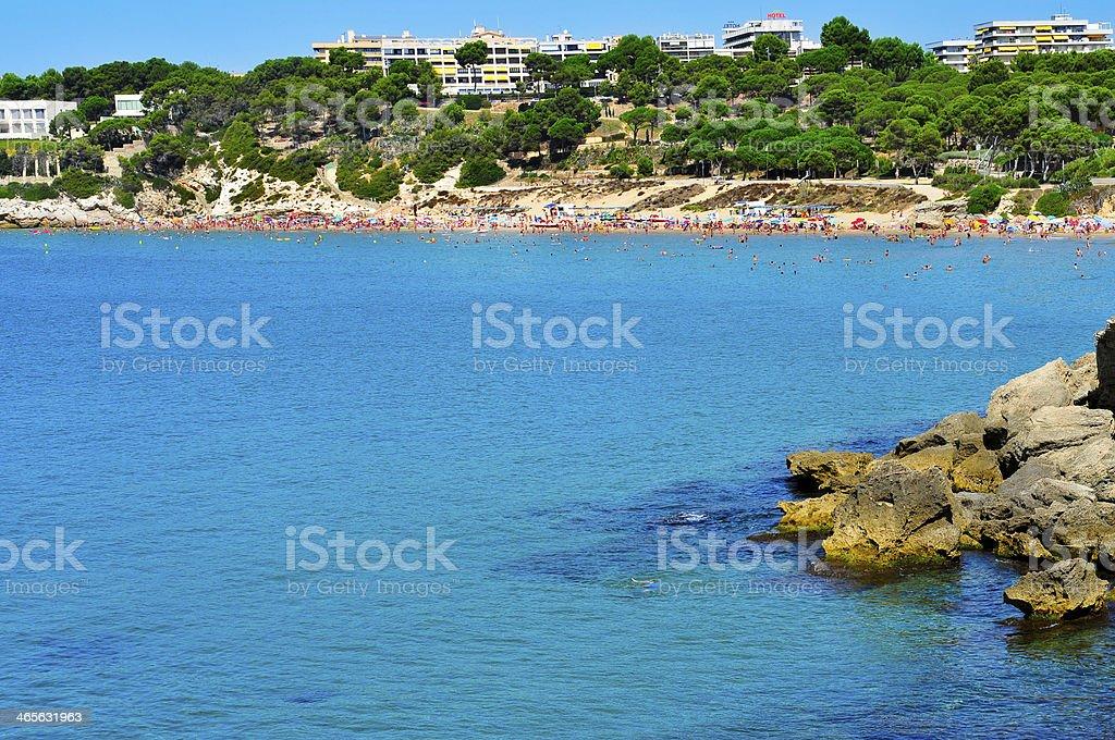 Platja Llarga beach, in Salou, Spain stock photo
