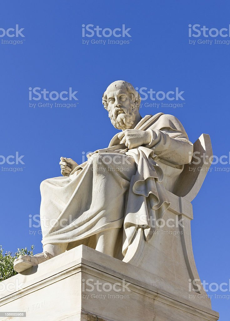 Plato, Academy of Athens, Greece stock photo