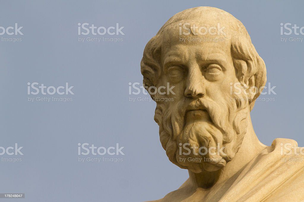 Plato, Greek Philosopher stock photo