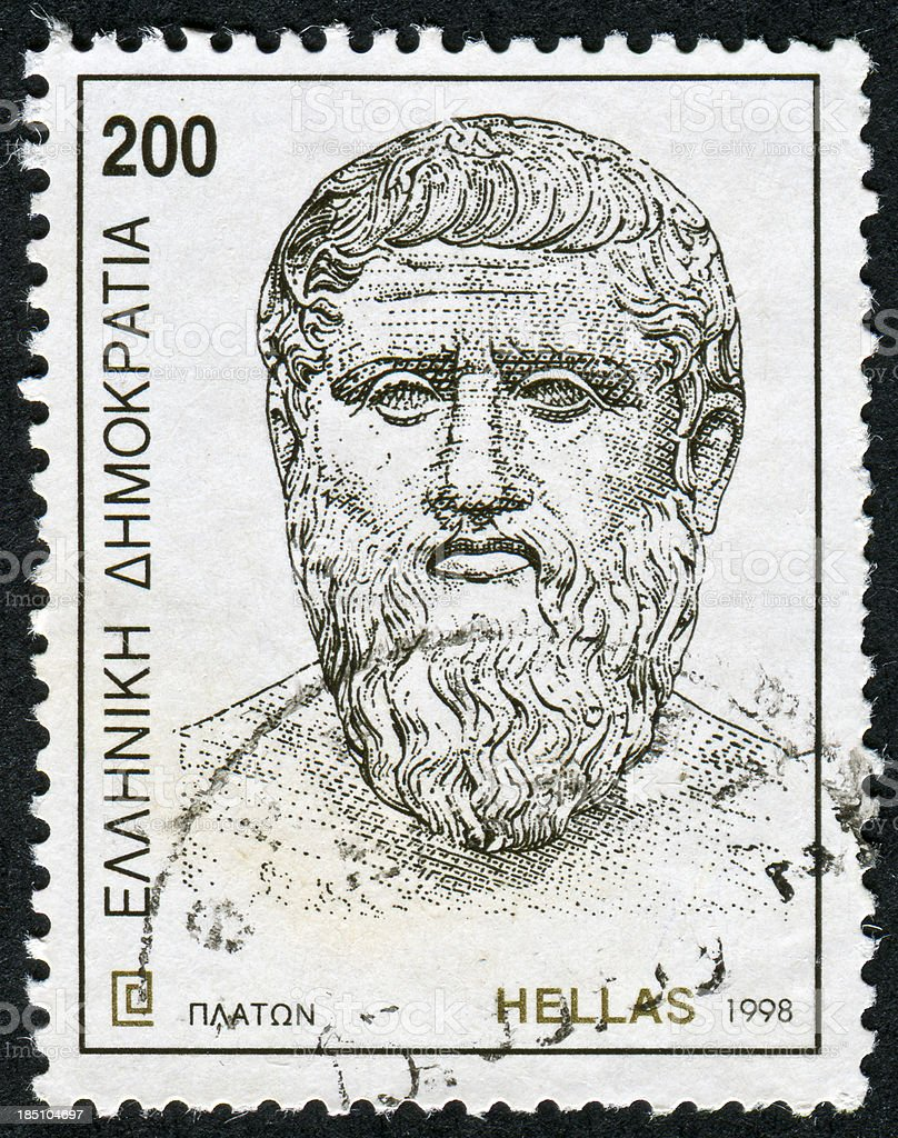 Plato Stamp stock photo