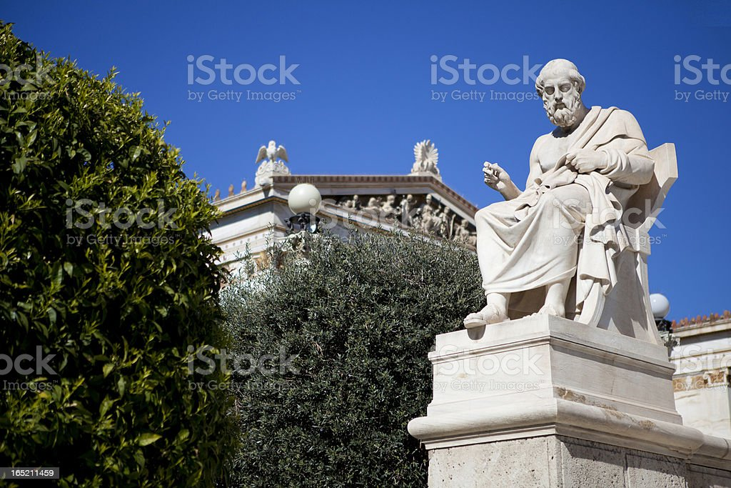 Plato the philosopher stock photo