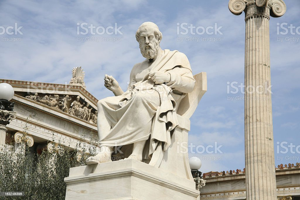 Plato - the philosopher stock photo