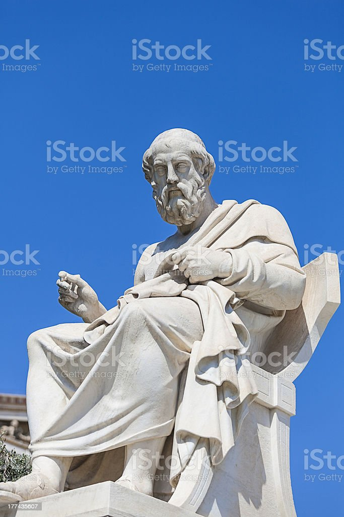 Plato,Classical Greek philosopher, stock photo