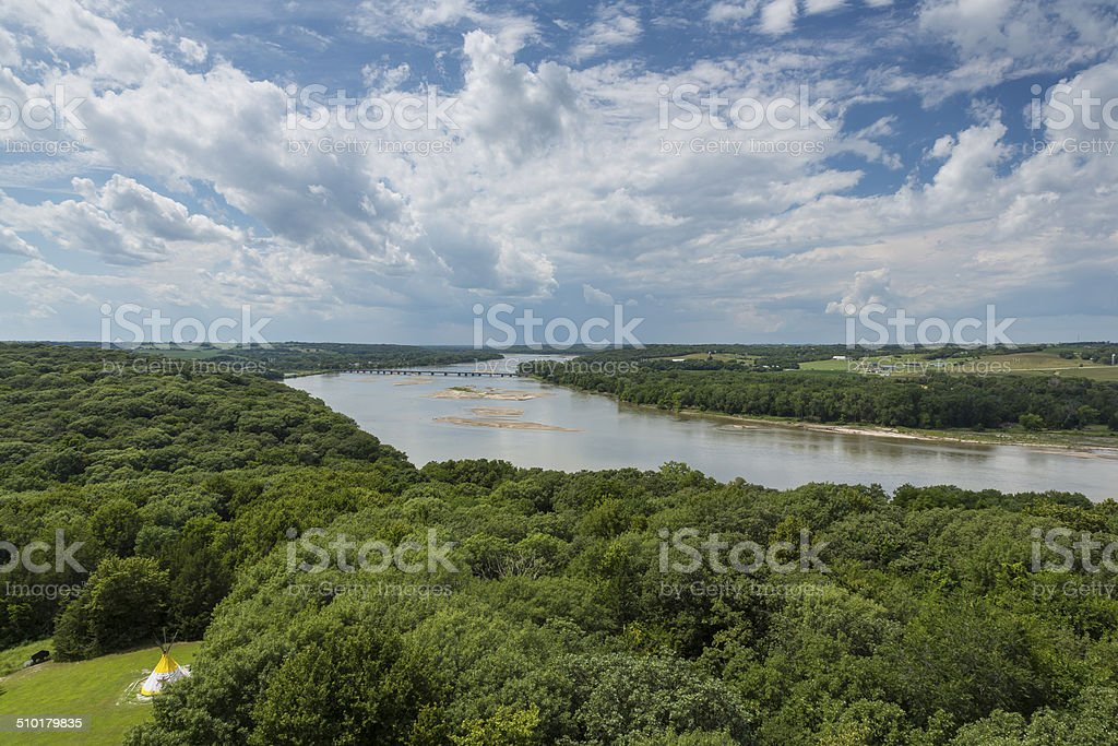 Platte River Scenic stock photo