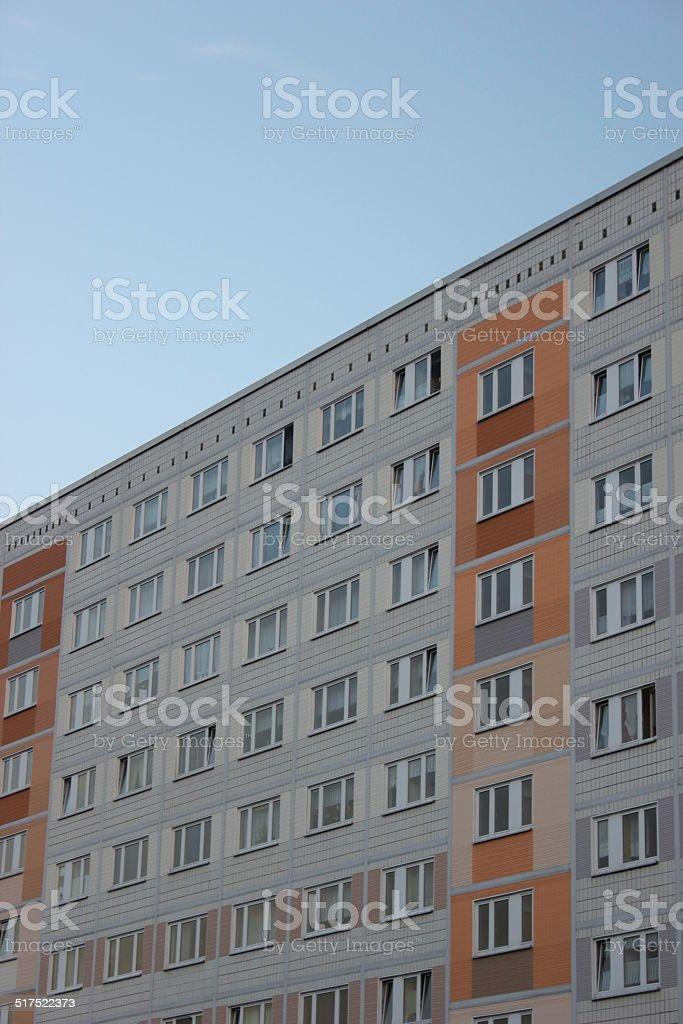 Plattenbau In Eastern Germany stock photo