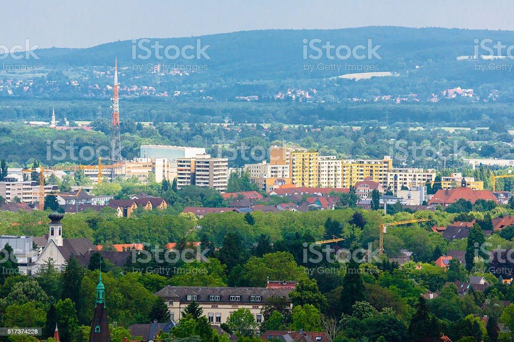 Plattenbau in Germany stock photo