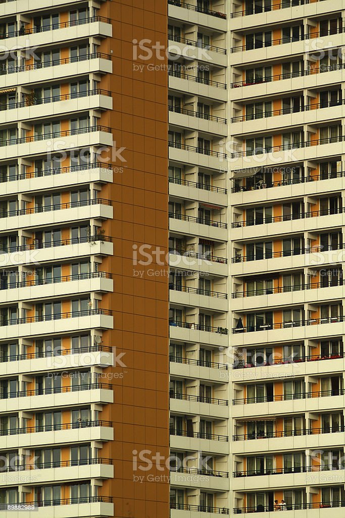 Plattenbauten - Apartment Buildings stock photo