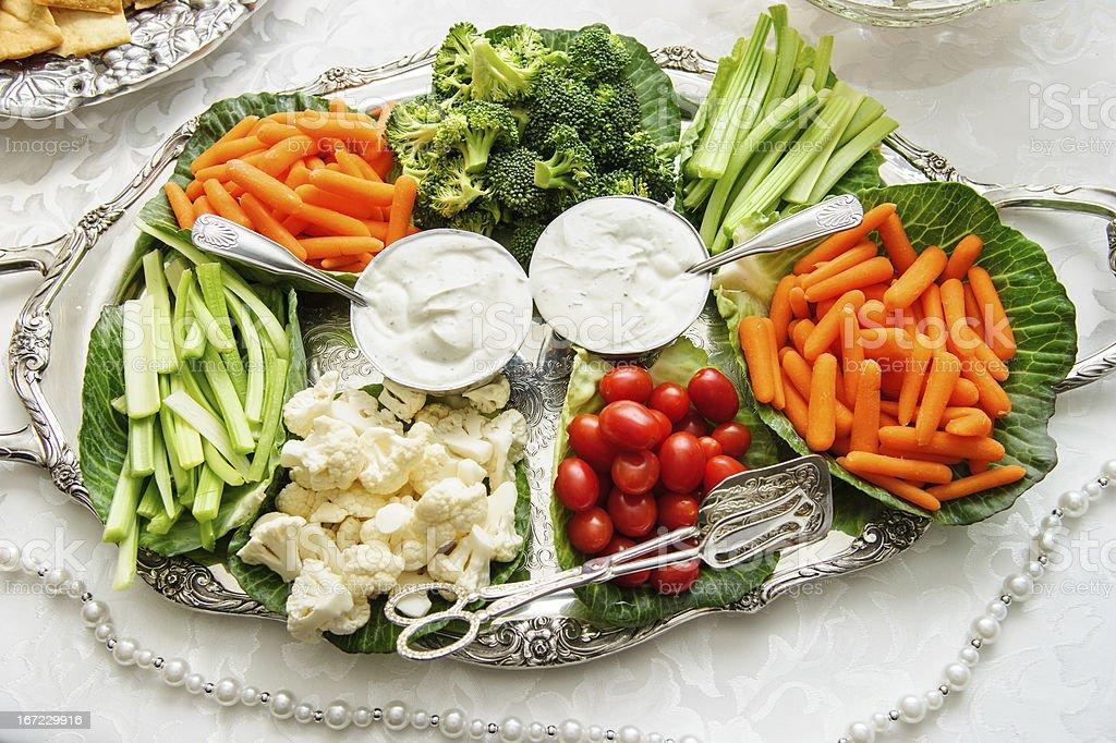 Platter of mixed veggies royalty-free stock photo