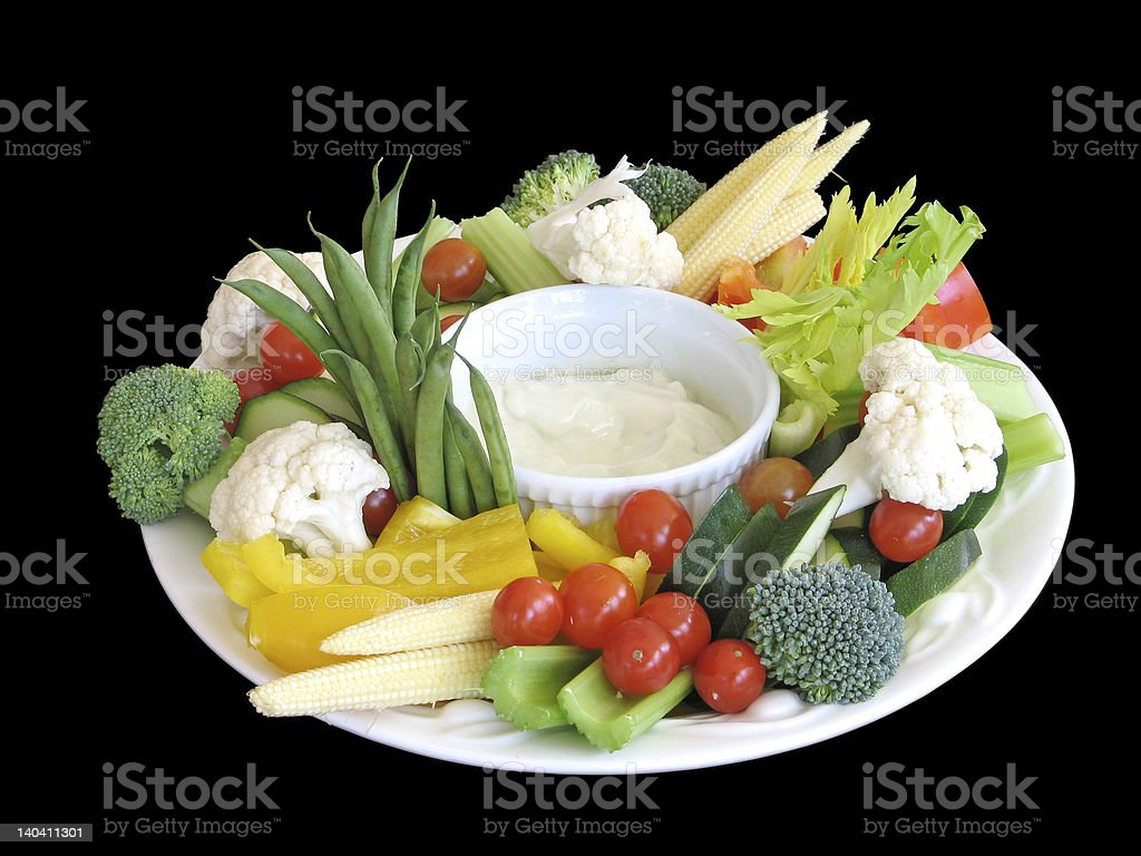 Platter of vegetables royalty-free stock photo