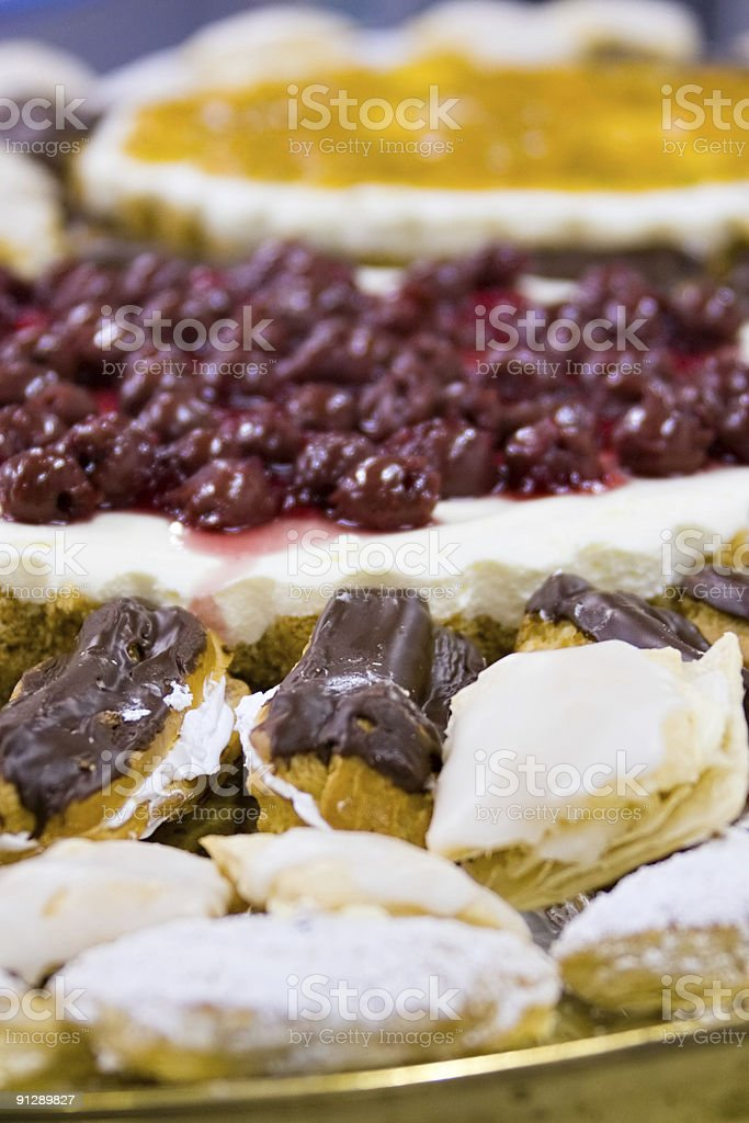 platter with cakes royalty-free stock photo