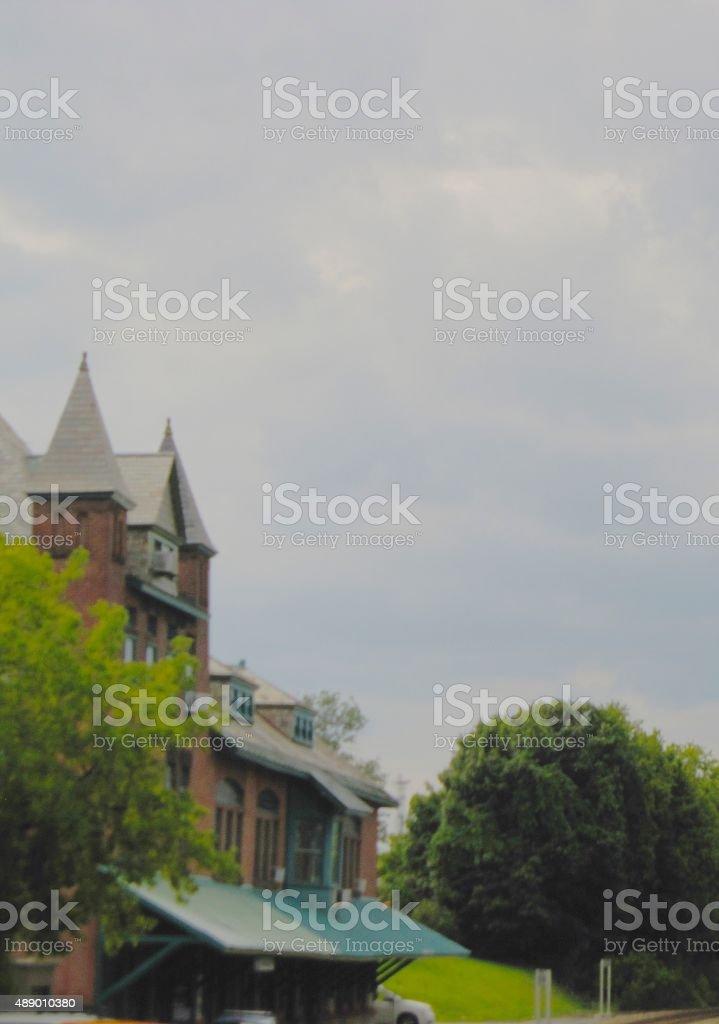 Plattsburgh Bay, New York,old market, stock photo