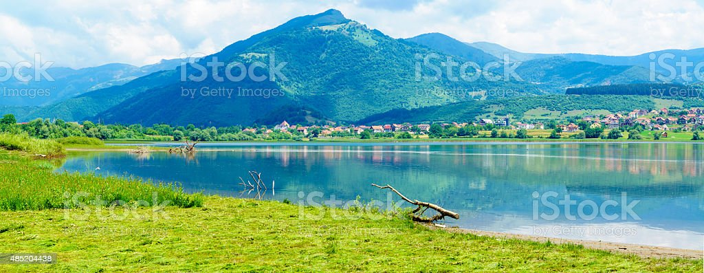 Plav Lake stock photo