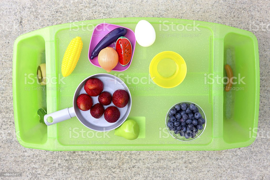 Play and Eat Time Tray royalty-free stock photo