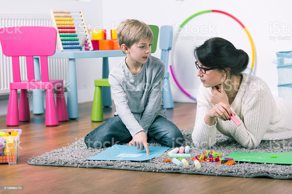 Play and learn, this is fun! stock photo