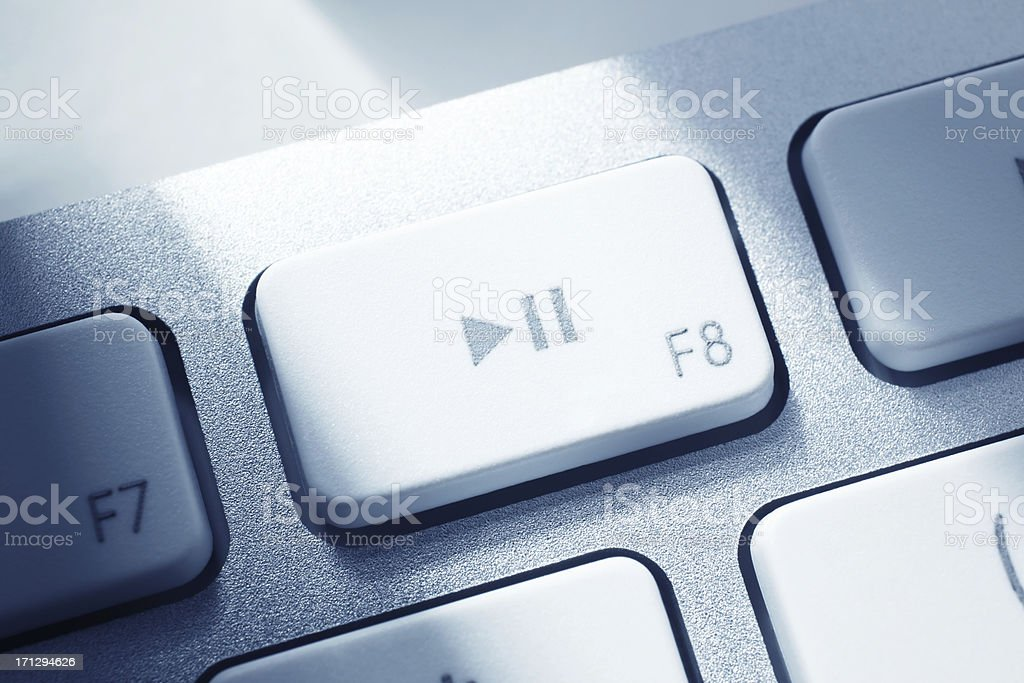 Play and Pause Key stock photo