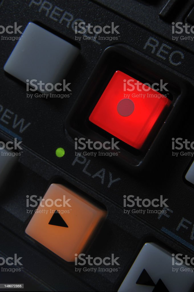 'Play' and 'Record' buttons stock photo