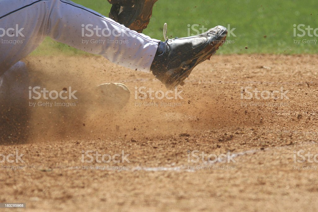 Play at the plate stock photo