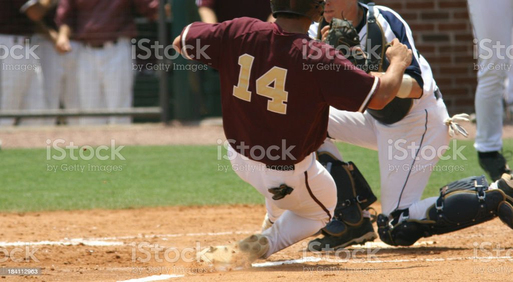 Play at the plate royalty-free stock photo