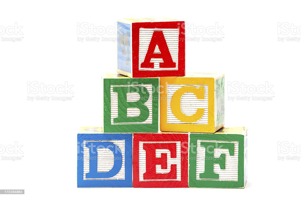 Play blocks royalty-free stock photo