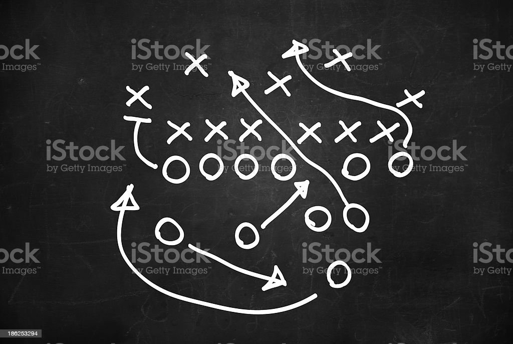 Play board for soccer game stock photo