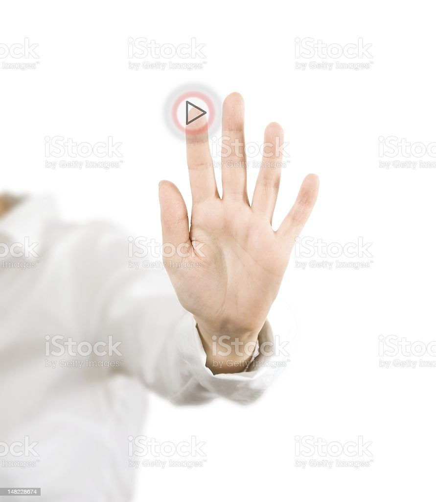 play button royalty-free stock photo