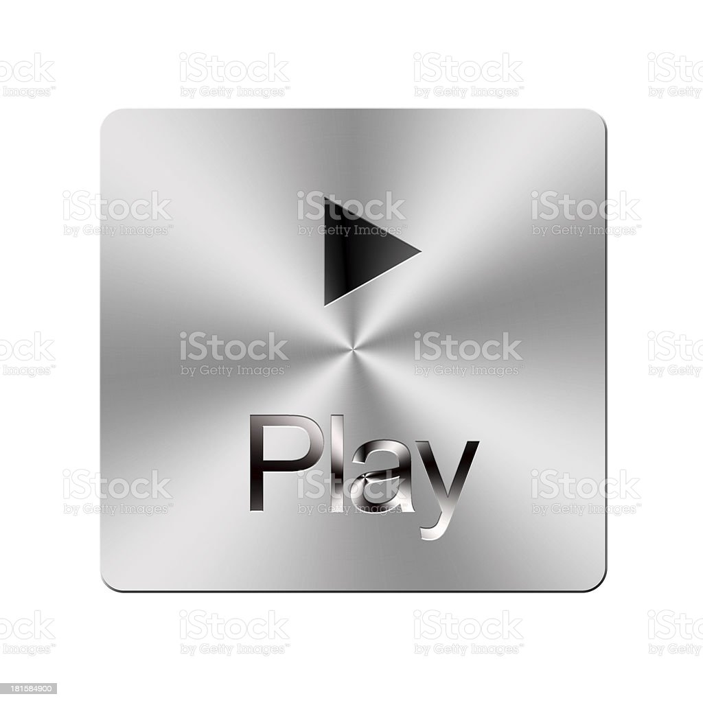 Play button. royalty-free stock photo