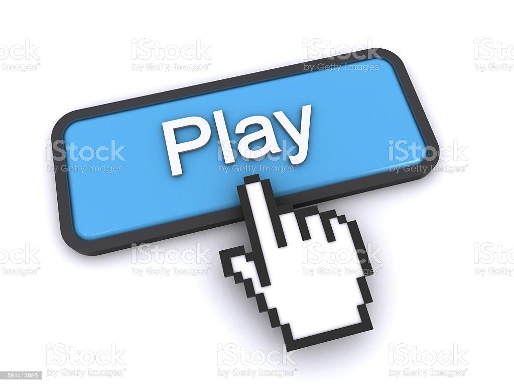 play button stock photo