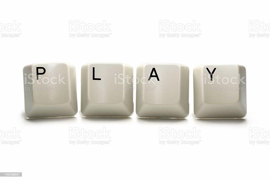 Play - computer keys royalty-free stock photo