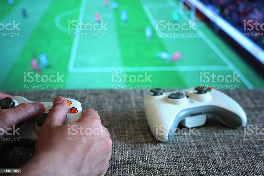 play console joysticks stock photo