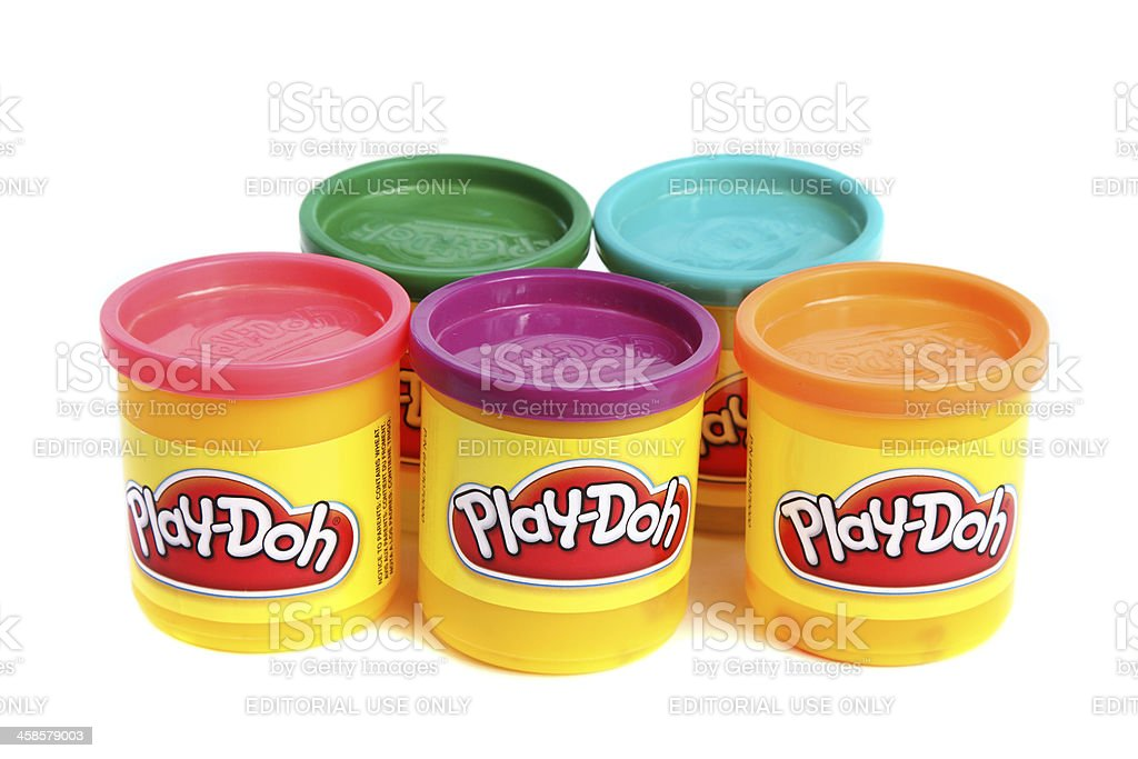 Play Doh Modeling clay stock photo