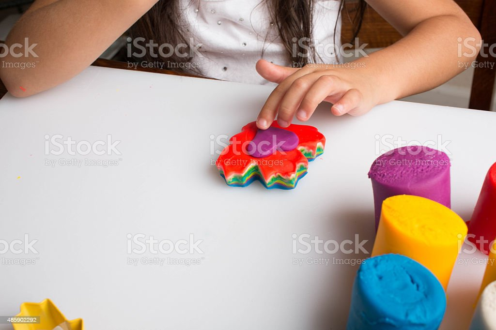 Play Dough Creation stock photo