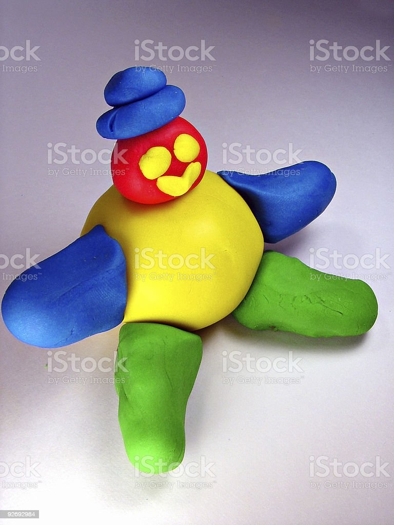 Play Dough Man with Hat stock photo