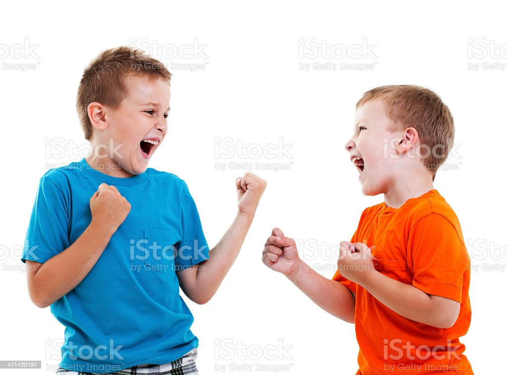 Play Fight stock photo
