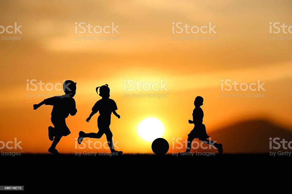 play footbal stock photo