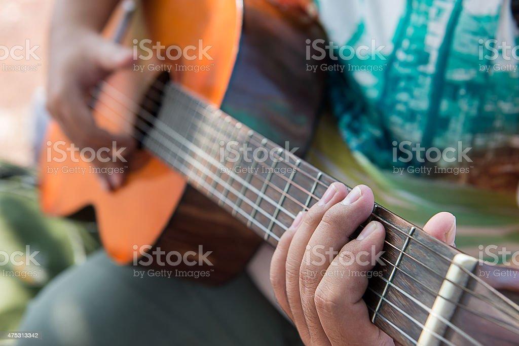Play Guitar stock photo