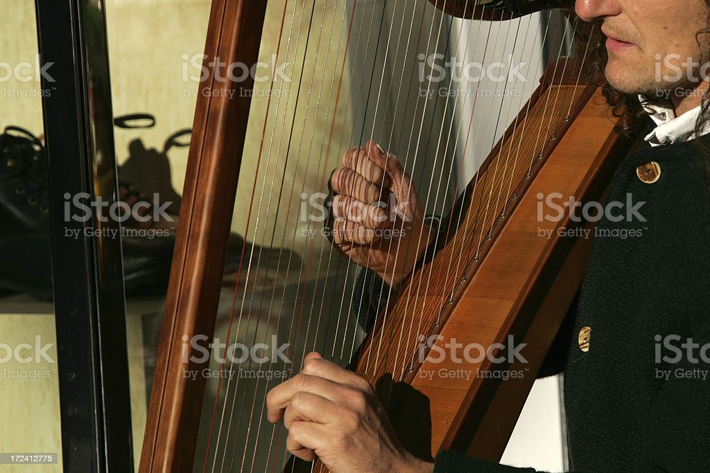 play harp stock photo