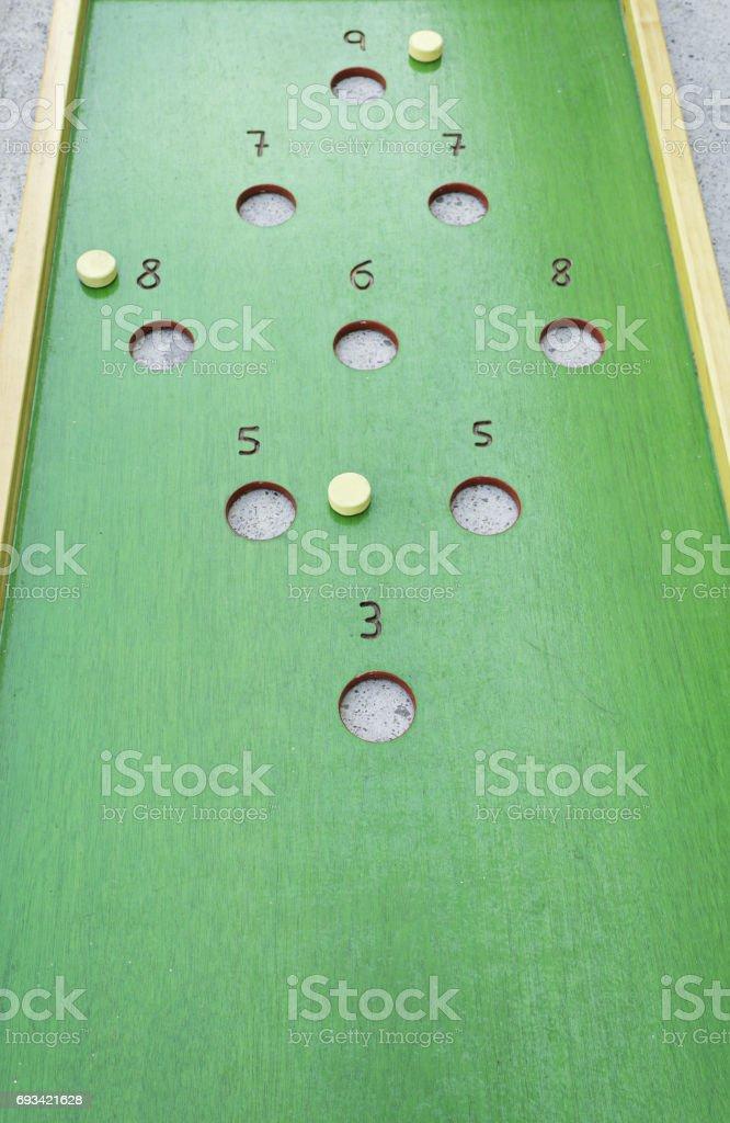 Play hopscotch stock photo