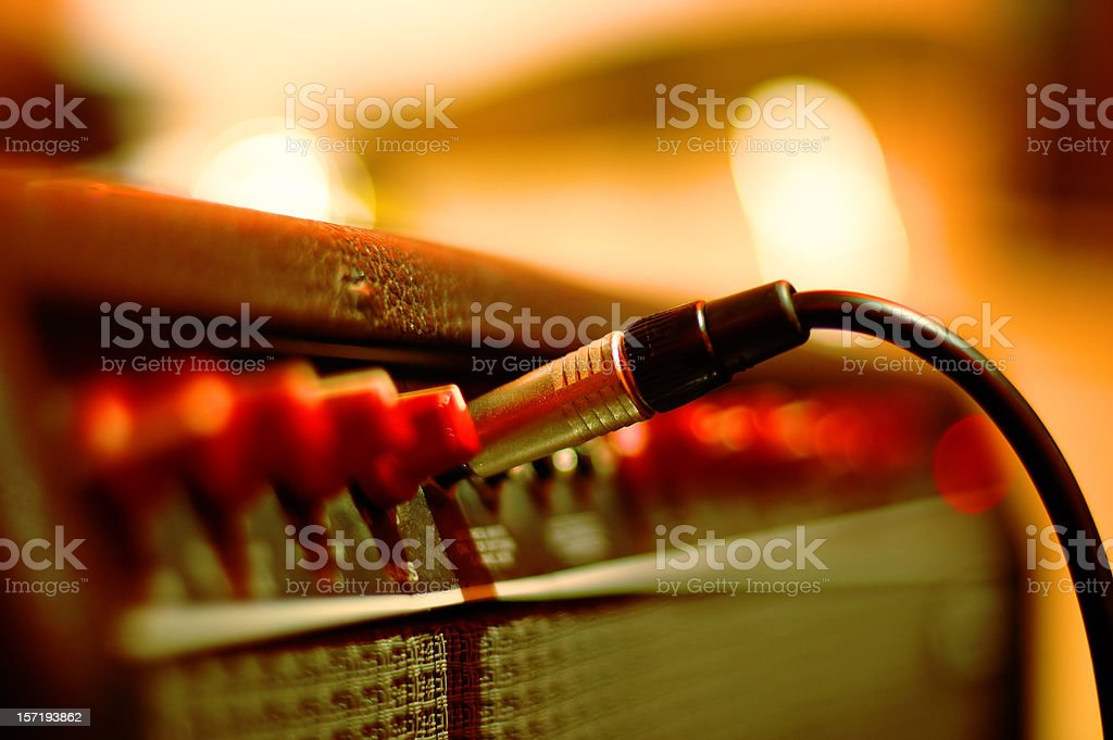 Play my guitar royalty-free stock photo