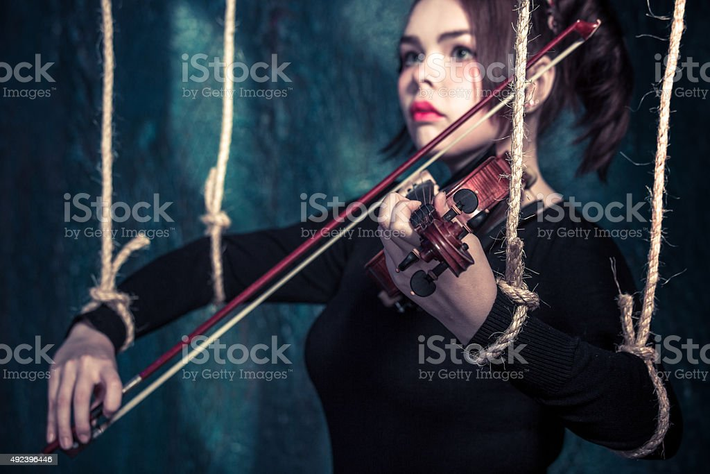 Play On Her Violin stock photo
