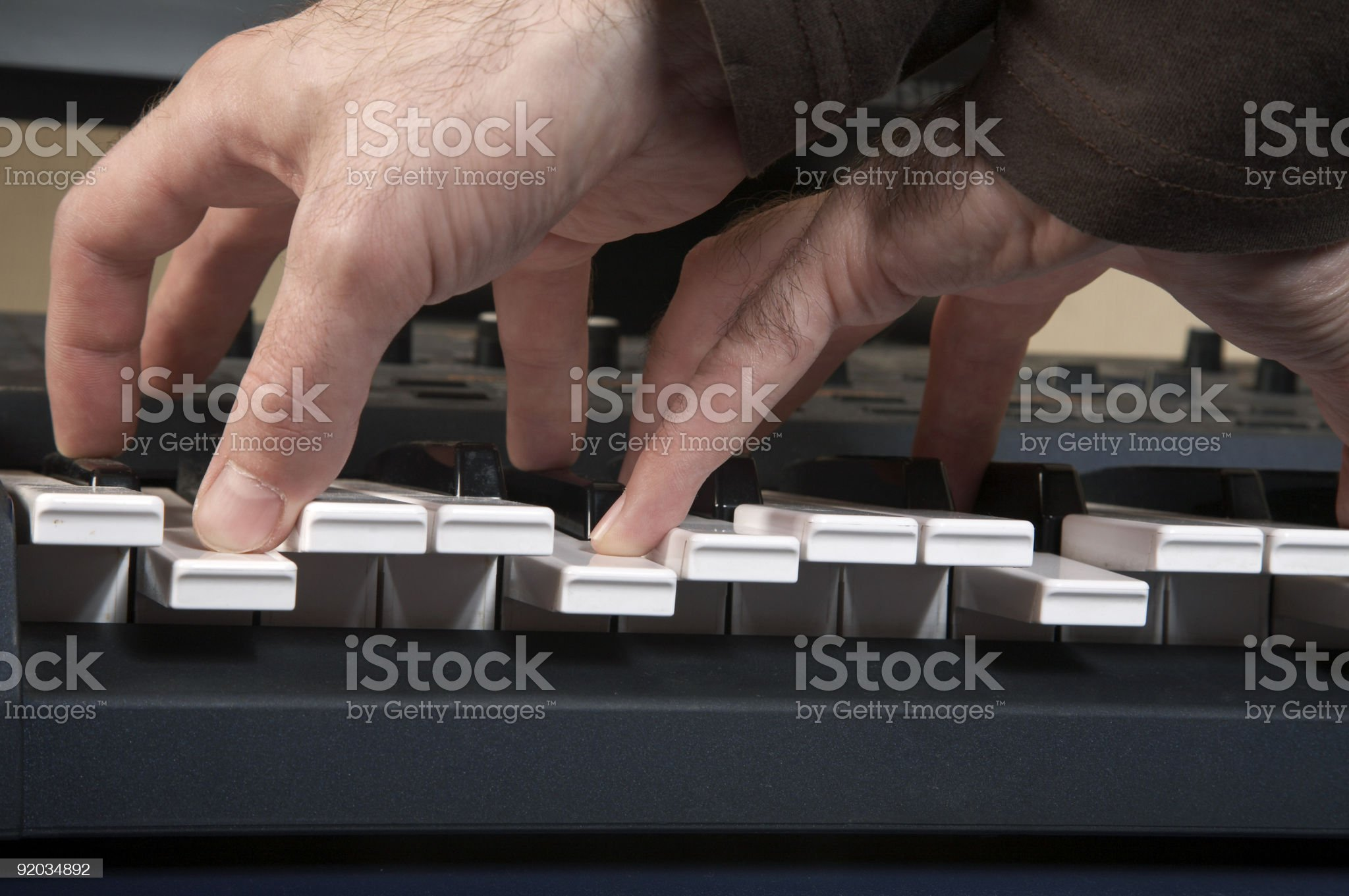 Play on the piano royalty-free stock photo