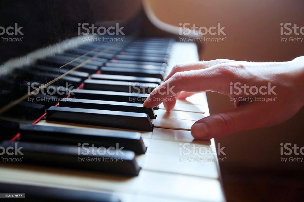 play piano stock photo